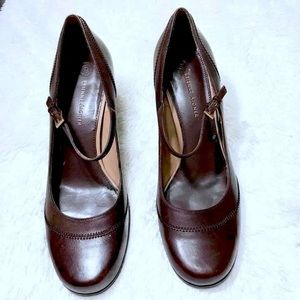 ETIENNE AIGNER   LEATHER Mary Jane Heels